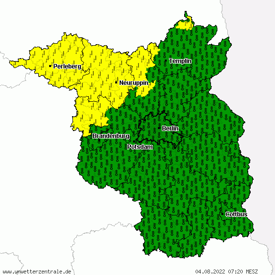 Unwetterwarnung Brandenburg