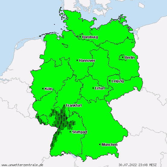 Active weather warnings for Germany