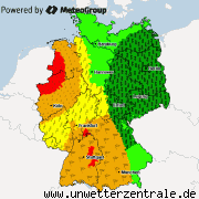 Aktuelle Unwetterwarnungen f&#252;r Deutschland
