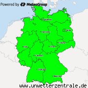Current weather warnings for Germany