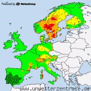 Aktuelle Unwetterwarnungen für Deutschland und Europa