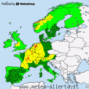 Weather warnings in Europe