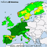 Current severe weather for Europe